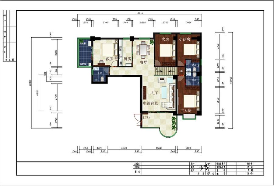 室内设计作品-平面布置图