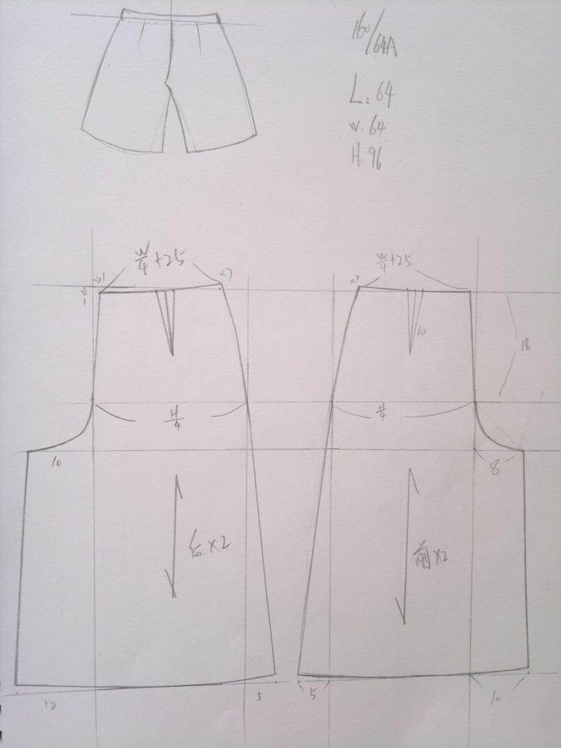 服装打板作品 - 服装打版